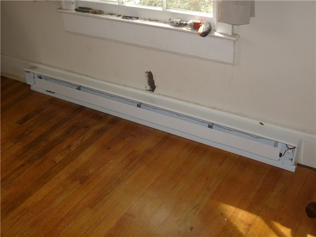 Elektricitet: Fahrenheat Electric Baseboard Heater Installation