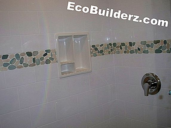 Laatoitus: Tile Shower Border Ideat